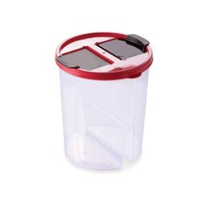 Imagem do produto - Guarda Tudo de Plástico Redondo 2 Divisórias 1,7 L Dueto