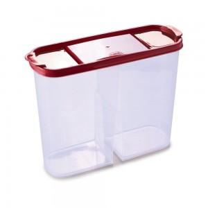 Imagem do produto - Guarda Tudo de Plástico Reangular 2 Divisórias 2,4 L Dueto