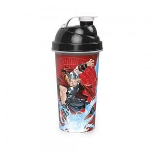 Imagem do produto - Shakeira de Plástico 580 ml com Tampa Rosca e Misturador Avengers Thor