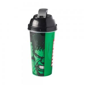 Imagem do produto - Shakeira de Plástico 580 ml com Tampa Rosca e Misturador Avengers Hulk