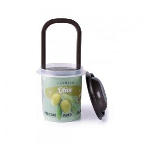 Imagem do produto - Pote de Plástico Redondo 670 ml para Conserva com Escorredor e Tampa Retrô