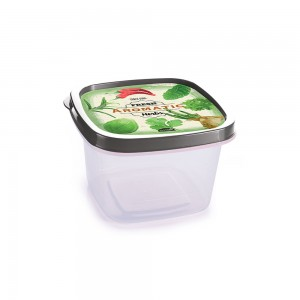 Imagem - Pote de Plástico Quadrado 500 ml Temperos Clic Retrô 008695-2943 Cinza