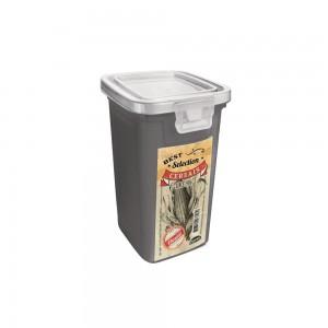 Imagem do produto - Pote de Plástico Retangular 420 ml com Tampa Fixa e Trava Cereais Duo Retrô