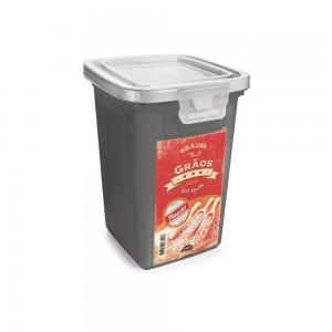 Imagem do produto - Pote de Plástico Retangular 980 ml com Tampa Fixa e Trava Grãos Duo Retrô