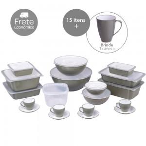 Imagem do produto - Kit de Potes - 16 Peças | Duo 360°