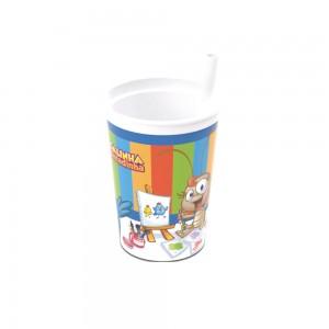 Imagem do produto - Copo de Plástico 330 ml com Canudo Fixo Galinha Pintadinha