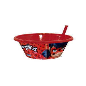 Imagem do produto - Bowl com Canudo Fixo | Miraculous - Ladybug