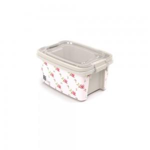 Imagem do produto - Caixa 690 ml com Alça e Trava | Floral - Gran Box