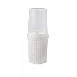 Imagem do produto - Porta Escovas e Creme Dental de Plástico com Tampa Trama