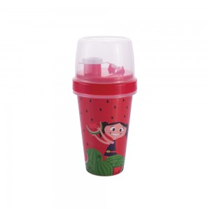 Imagem do produto - Mini Shakeira de Plástico 320 ml com Misturador, Fechamento Rosca e Sobretampa Articulável Show da Luna