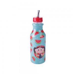 Imagem do produto - Garrafa de Plástico 500 ml com Tampa Rosca e Canudo Retrô Show da Luna