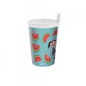 Imagem do produto - Copo de Plástico 330 ml com Canudo Fixo Show da Luna