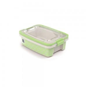 Imagem do produto - Caixa de Plástico Retangular Organizadora 1,5 L com Tampa, Travas Laterais e Alça Gran Box Poá