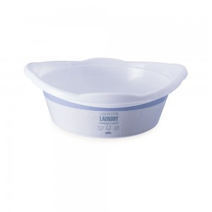 Imagem - Bacia de Plástico Redonda 5,8 L com Pegador Lavanderia 008863-3065 Branco