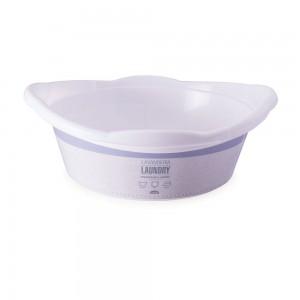 Imagem - Bacia de Plástico Redonda 9,4 L com Pegador Lavanderia 008864-3067 Branco
