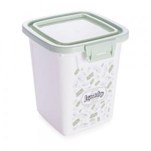 Imagem do produto - Porta Sabão em Pó de Plástico 1 Kg com Tampa Fixa e Trava Lavanderia