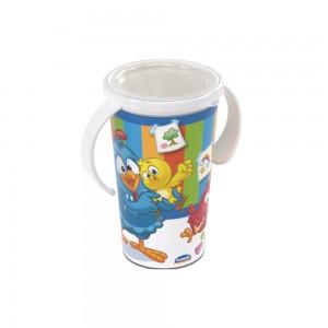 Imagem do produto - Copo de Plástico com Alça 280 ml Galinha Pintadinha Magic