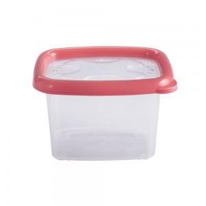 Imagem do produto - Pote de Plástico Retangular 650 ml com Tampa Emborrachada Conservamax