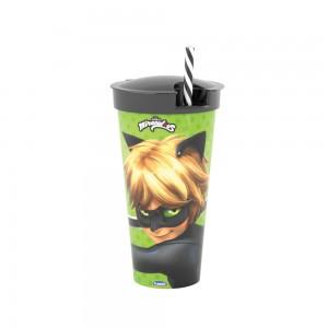 Imagem do produto - Copo com Canudo 2 em 1 | Cat Noir