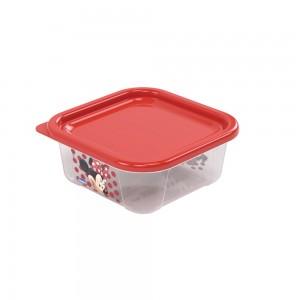 Imagem do produto - Pote de Plástico Quadrado 220 ml com Tampa Fixa Duo Minnie