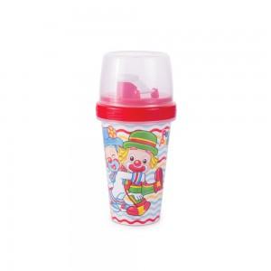 Imagem do produto - Mini Shakeira de Plástico 320 ml com Misturador, Fechamento Rosca e Sobretampa Articulável Patati Patatá