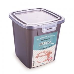 Imagem do produto - Pote de Plástico Retangular 3,2 L com Tampa Fixa e Trava Arroz Duo Retrô