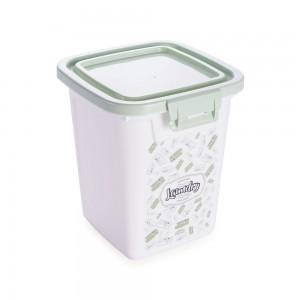 Imagem do produto - Porta Sabão em Pó de Plástico 500 g com Tampa Fixa e Trava Lavanderia