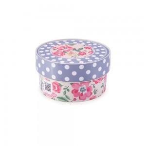 Imagem do produto - Caixa de Plástico Redonda Organizadora 630 ml com Tampa Encaixável Floral