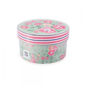 Imagem do produto - Caixa de Plástico Redonda Organizadora 1,2 L com Tampa Encaixável Floral
