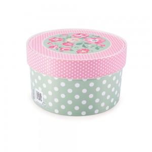 Imagem do produto - Caixa de Plástico Redonda Organizadora 1,5 L com Tampa Encaixável Floral