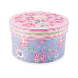 Imagem do produto - Caixa de Plástico Redonda Organizadora 2,1 L com Tampa Encaixável Floral