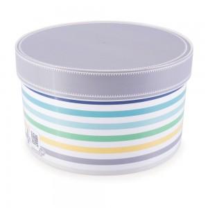 Imagem do produto - Caixa de Plástico Redonda Organizadora 2,7 L com Tampa Encaixável Geométrica