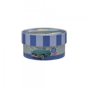 Imagem do produto - Caixa de Plástico Redonda Organizadora 630 ml com Tampa Encaixável Garagem Retrô