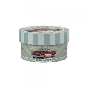 Imagem do produto - Caixa de Plástico Redonda Organizadora 900 ml com Tampa Encaixável Garagem Retrô