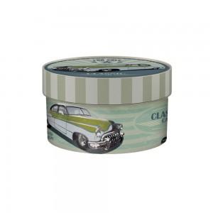 Imagem do produto - Caixa de Plástico Redonda Organizadora 1,2 L com Tampa Encaixável Garagem Retrô