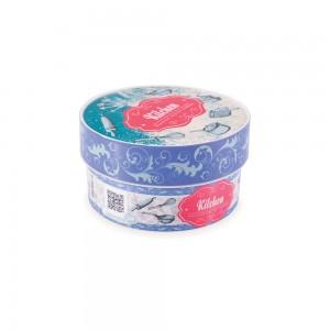 Imagem do produto - Caixa de Plástico Redonda Organizadora 630 ml com Tampa Encaixável Cozinha Retrô
