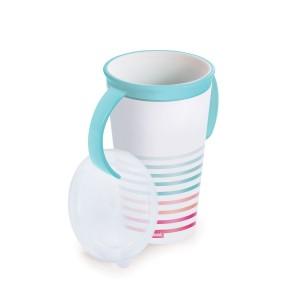 Imagem do produto - Copo de Plástico com Alça 280 ml Listras Magic