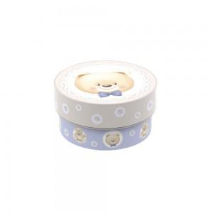 Imagem do produto - Caixa de Plástico Redonda 420 ml com Tampa Encaixável Urso