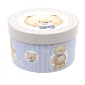 Imagem do produto - Caixa de Plástico Redonda 2,7 L com Tampa Encaixável Urso