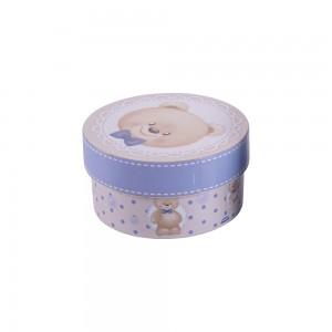 Imagem do produto - Caixa de Plástico Redonda 630 ml com Tampa Encaixável Urso