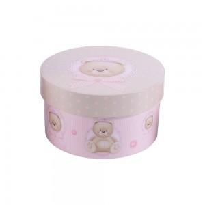 Imagem do produto - Caixa de Plástico Redonda 1,2 L com Tampa Encaixável Ursa