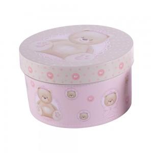 Imagem do produto - Caixa de Plástico Redonda 2,1 L com Tampa Encaixável Ursa