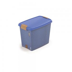 Imagem do produto - Caixa de Plástico Retangular Organizadora 7,8 L com Tampa e Travas Laterais Jeans