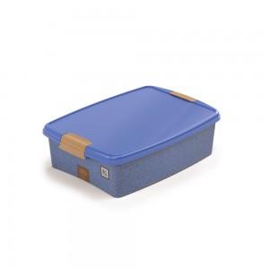 Imagem do produto - Caixa de Plástico Retangular Organizadora 9,2 L com Tampa e Travas Laterais Jeans