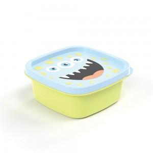 Imagem do produto - Pote de Plástico Quadrado 580 ml Monstros Clic