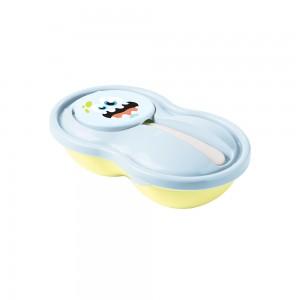 Imagem do produto - Pote de Plástico para Papinha 320 ml com Colher e Tampa Protetora Monstros