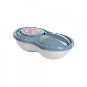 Imagem do produto - Pote de Plástico para Papinha 320 ml com Colher e Tampa Protetora Bichinhos