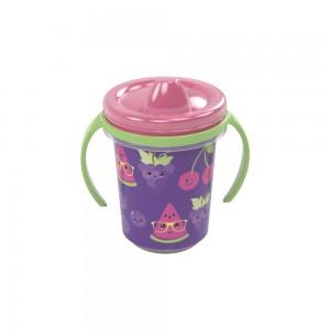 Imagem do produto - Caneca de Plástico 330 ml para Transição com Alça Removível e Fechamento Rosca Frutas