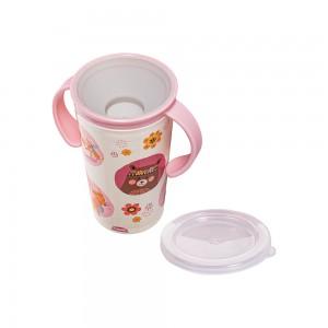 Imagem do produto - Copo de Plástico 280 ml para Transição com Alça Floral Bichinhos Petit