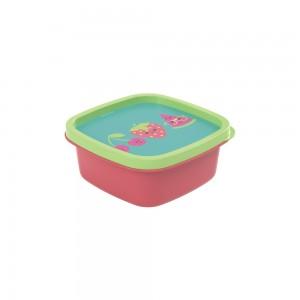 Imagem do produto - Pote de Plástico Quadrado 580 ml Frutas Clic